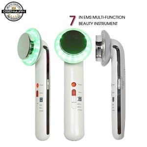 Image 1 - 7 w 1 EMS ultradźwiękowy ciała twarzy odchudzanie anty cellulit spalić tłuszczu kawitacji wyszczuplanie ciała odchudzanie terapia twarzy masażer