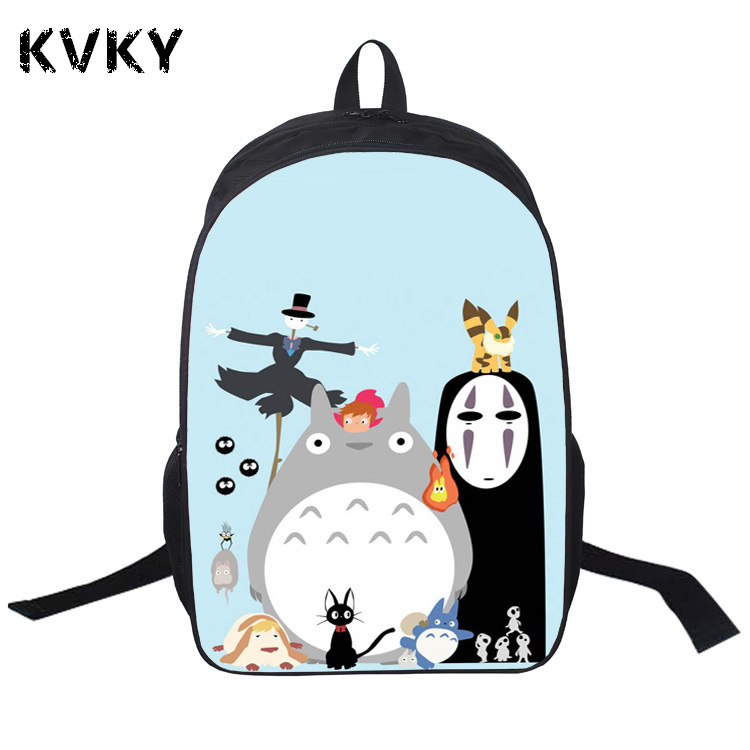 Anime My Neighbor Totoro Pringting Backpack For Teenagers Boys Girls Cute Totoro School Bags Student Backpacks