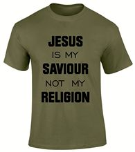 Jesus is my Saviour not Religion Christian Gospel Church Scriptures Men T-Shirt  Free shipping Tops Fashion Classic Unique gift
