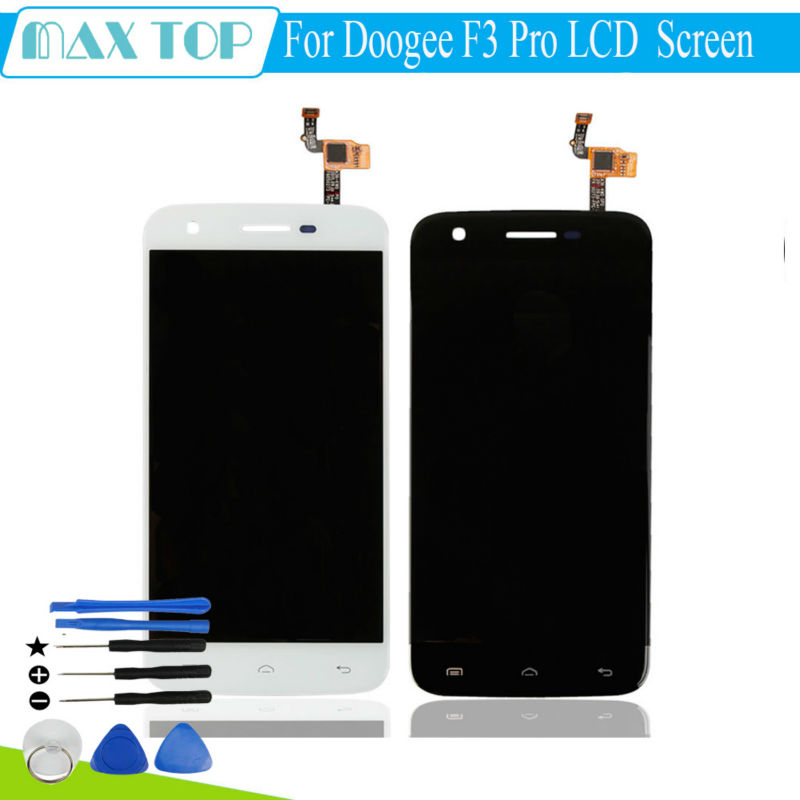 ФОТО 100% Tested 5.0 inch For Doogee F3 Pro LCD Display and Touch Screen Assembly Repair Part Mobile Accessories F3 Pro + Free tools