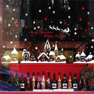 Image 2 - Chúc Giáng Sinh Họa Tiết Vườn Dán Tường Nghệ Thuật Có Thể Tháo Rời Nhà Vinyl Dán Tường Cửa Sổ Dán Decal Trang Trí An Toàn Cho Trẻ Em
