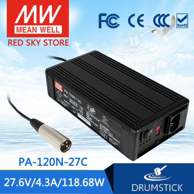 hot-selling MEAN WELL PA-120N-27C 27.6V 4.3A meanwell PA-120N 27.6V 118.68W Power Supply or Battery Charger mean well original pb 120n 54p 55 2v 2 2a meanwell pb 120n 55 2v 121 44w power supply or battery charger
