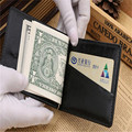 100% homem de alta qualidade clipe de dinheiro mini zipper coin passaporte crédito id titular titular do cartão carteira porte monnaie billetera hombre