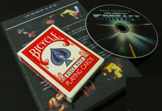 iContact(DVD+GIMMICK)  - Tricks, Magic trick classic toys, close up card magic,