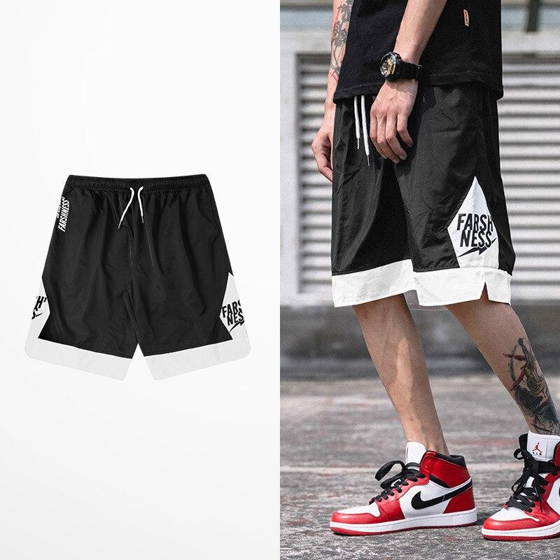 Hip Hop Tide Brand Short Pants Men Skateboard High Street Dark Souls Shorts Male Streetwear Korean Fashion Leisure Shorts Men