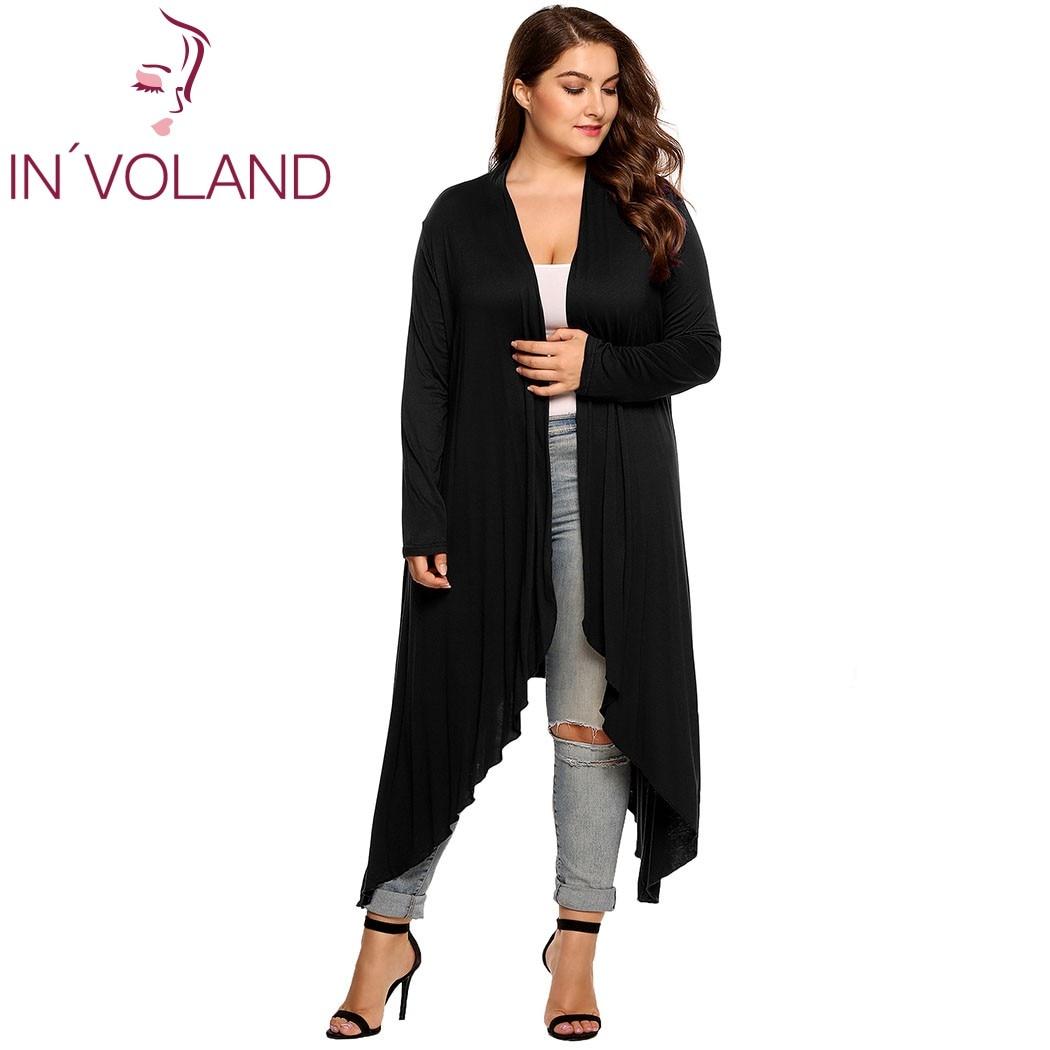 IN'VOLAND Կանացի Cardigan Jacket Plus Չափի - Կանացի հագուստ - Լուսանկար 3