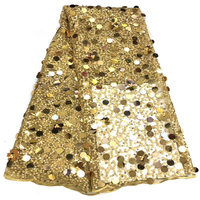 Nigeria new design lace with sequins and beaded luxury fabrics, African lace 3d floral embroidery tulle fabrics
