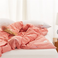 100 Cotton Pure Orange Bedding Single Product Home Textiles 1PC Environmental Printing And Dyeing Duvet Cover
