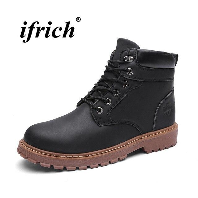 Оригинальный из искусственной кожи рабочие безопасные ботинки Для мужчин Классическая Повседневная обувь для Для мужчин Mid-Top Мужские боти...