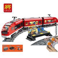 2019 New 763Pcs City Set RC Motor Control Passenger Train Model Building Kits Blocks Bricks Boy Toy Gift Compatible Legoing 7938