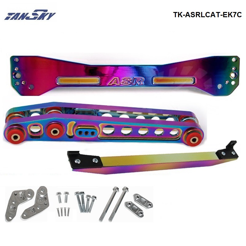 TANSKY -Neo chromatic Rear Subframe Brace +TIE BAR+Rear Lower Control Arm For Honda Civic EK TK-ASRLCAT-EK7C neo chrome rear lower control arm lca for honda civic 2001 2005 e2c