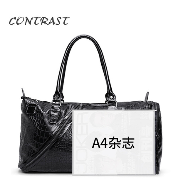 New fashion men bag Travel bags men and women pu leather High capacity handbags Leisure travel bag stone pattern high quality