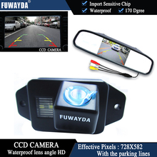 FUWAYDA Color CCD Chip Car Rear View Camera for TOYOTA LAND CRUISER PRADO 2700 4000 + 4.3 Inch  rearview Mirror Monitor HD