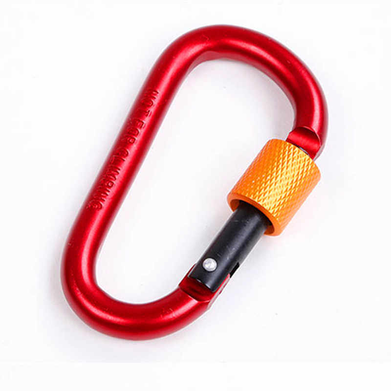 10 piezas 8cm mosquetón de aluminio d-ring llavero Clip de escalada al aire libre mochila carabina Camping llavero Snap Hook el Kit al aire libre
