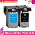 2шт совместимые картриджи для Canon PG40 CL41 PG-40 CL-41 iP1600 / IP1700 / IP1800 PG 40 CL41 MP140 MP450 MP470