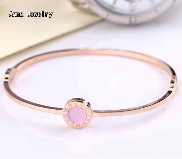 Popular Designer Roman Numerals Bracelet Stainless Steel Metal With Pink Color Mother Of Pearl Charm Fashion Bracelets For Women Bracelet Designer Bracelet Fashiondesigner Bracelet Aliexpress