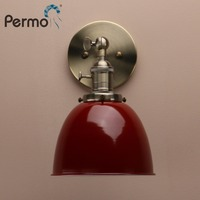 Permo Industrial Vintage Wall Lamps Modern Bowl Shape Sconce Retro Wall Lighting Fixtures E27 for Home Bar Christmas Decorations
