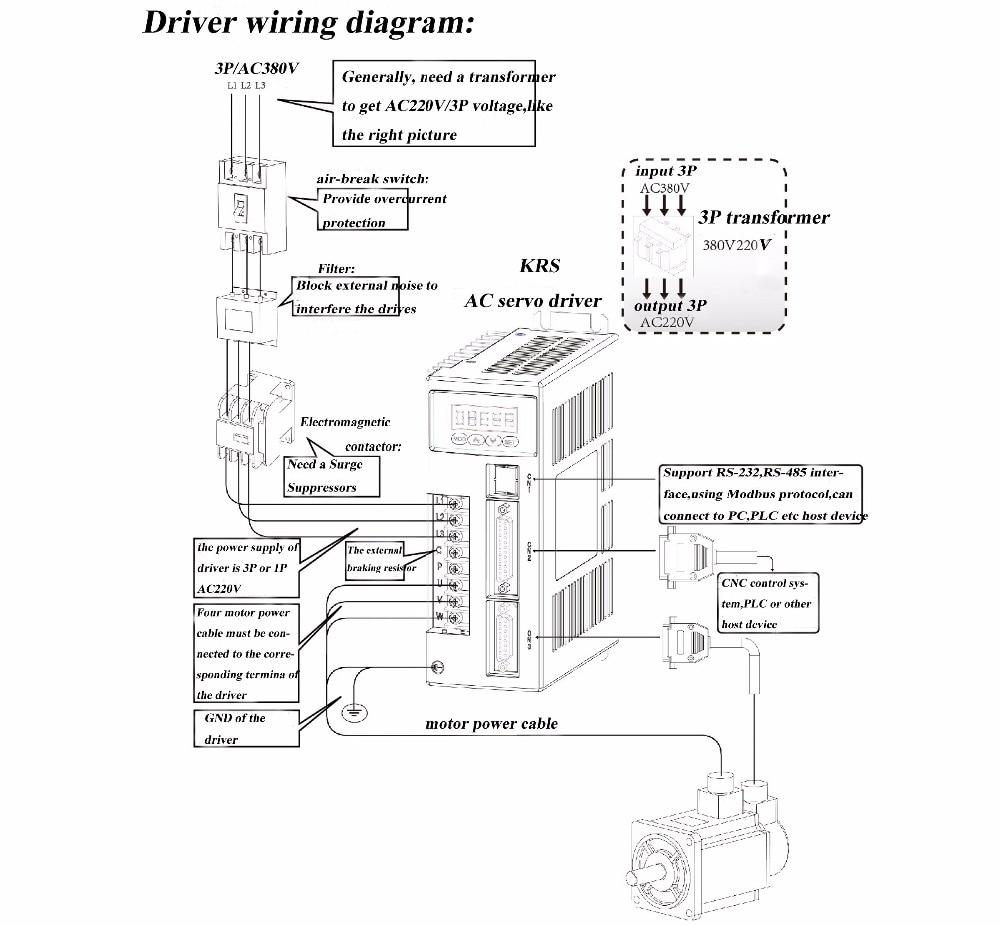 M 4KW 2000rpm driver wiring-suoxiao 180series servo motor