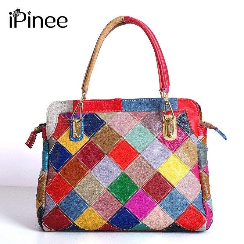 Sacs à Main de luxe iPinee femmes sacs Designer en cuir véritable Sac à bandoulière de mode Sac a Main Marque Bolsas dames sacs à Main décontractés