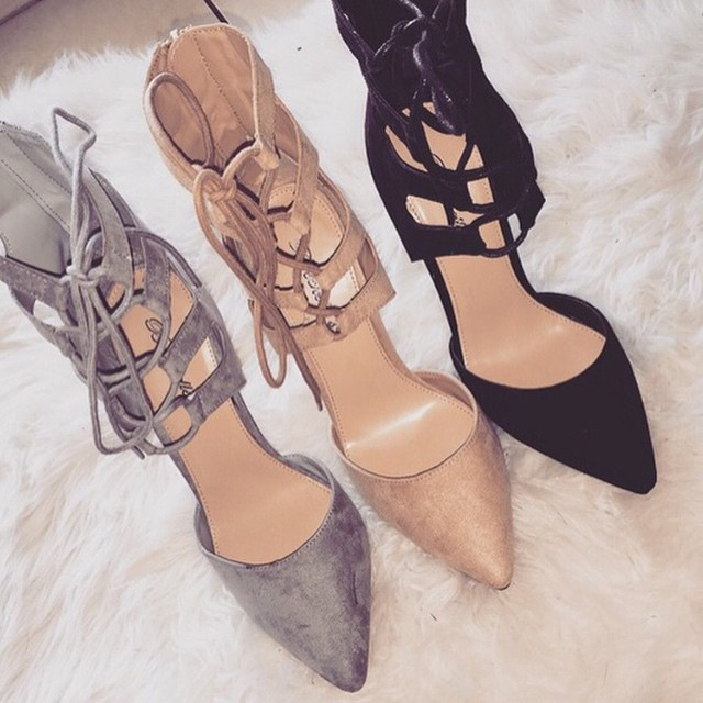 Aliexpress.com : Buy black grey nude red pointed toe suede high