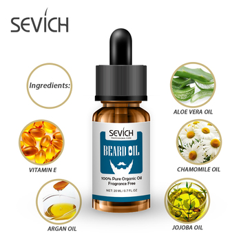 Sevich Natural 20ml Men Beard Oil for Styling Beeswax Moisturizing Smoothing Gentlemen Beard Care Conditioner Growth Products 1
