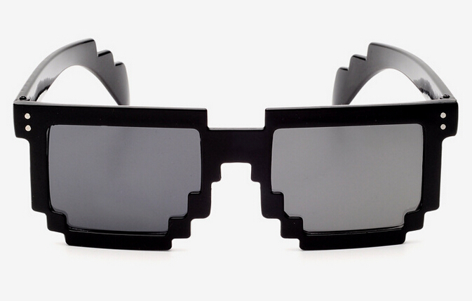 Pixelated Sunglasses  new fashion trendy retro pixel women men mosaic glasses pixelated