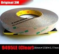 (28mm*55M*0.17mm) Extreme Hi Bond Transparent 3M 300LSE PET Acrylic Glue Tape for Laptop GPS Control Panel, Windows Display Bond