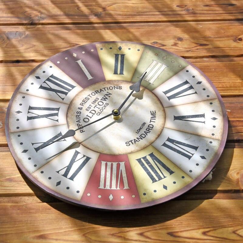 Klasik Pastoral Jam Dinding Kayu Dekoratif Hiasan Dinding Jam Kreatif Eropa  Pola Home Decor Hadiah di 73b0cf9015