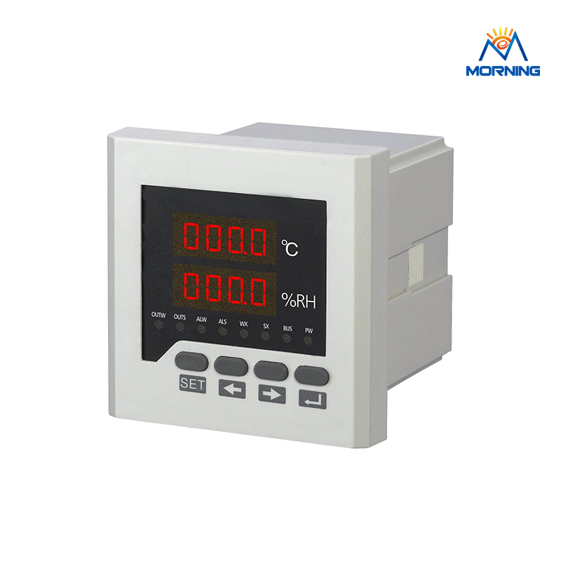 WSK303 LED Digital display Temperature and humidity Controller with sensor 96*96mm digital indoor air quality carbon dioxide meter temperature rh humidity twa stel display 99 points made in taiwan co2 monitor
