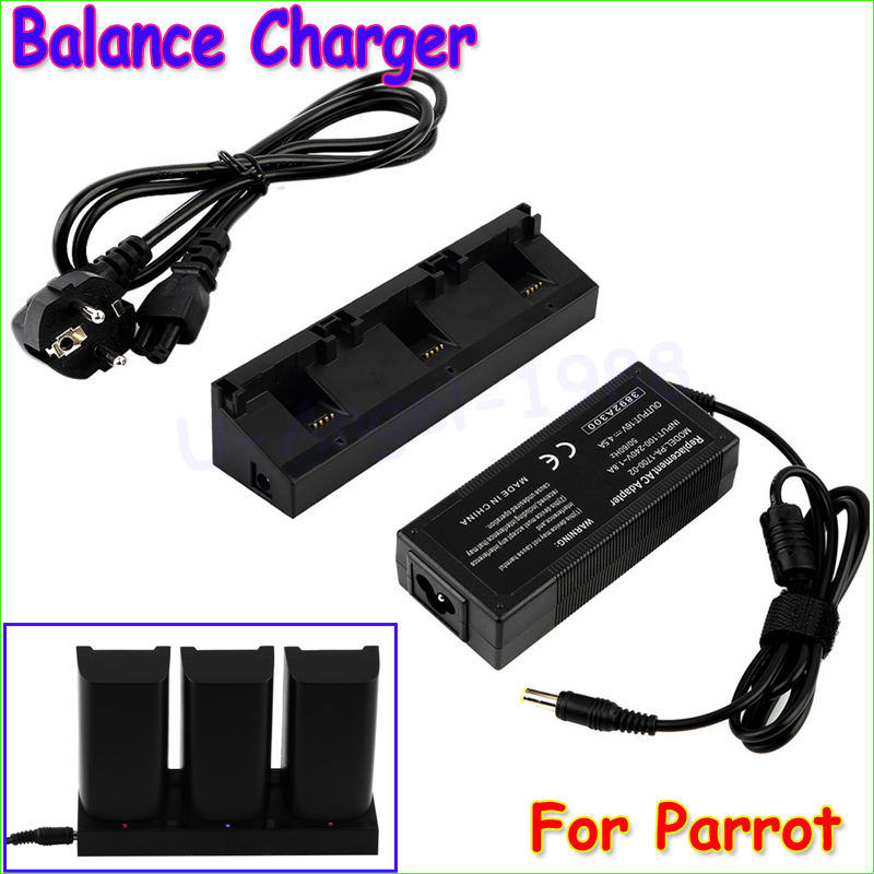 ФОТО Wholesale 1pcs 3 Port Balance Charger Power Adapter for Parrot Bebop mini Drone 3.0 Quadcopter