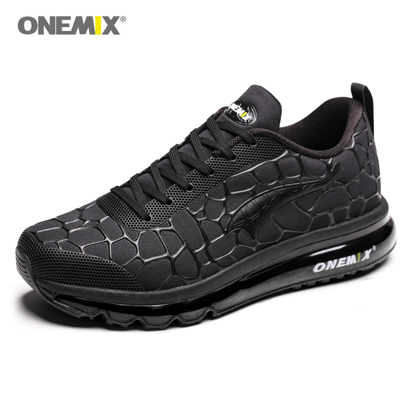 ONEMIX Men s Lightweight Sport Running Shoes Black Road Running Shoes Outdoor Male Athletic Sport Walking