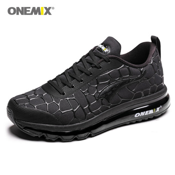 ONEMIX Men's Lightweight Sport Running Shoes Black Road Running Shoes Outdoor Male Athletic Sport Walking Air Cushion Sneakers