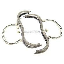 15Pcs Metal Arch Frame Kiss Clasp Lock Purse Bag Handbag Handle Ball Bronze Tone 20x16cm недорого