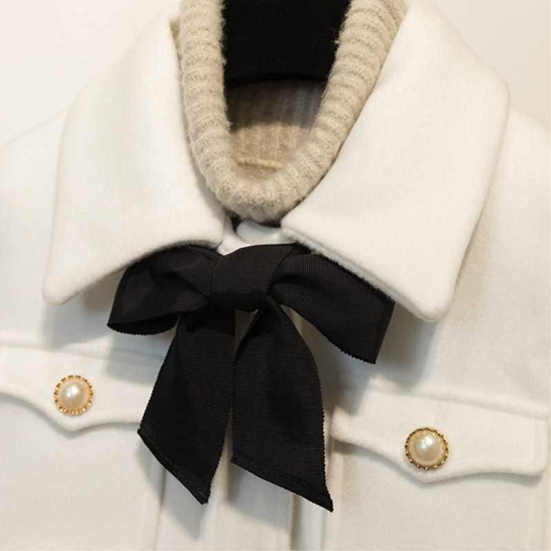 2019 dicken Mantel Frauen Bogen Schlanke Tasche Wolle Winter Jacke Frauen Dünne Woolen Lange Kaschmir Mäntel Strickjacke Jacken Elegante Mischung