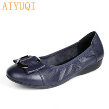 купить AIYUQI Shoes women flat 2019 spring new women flat shoes genuine leather loafers casual and comfortable mother shoes women дешево