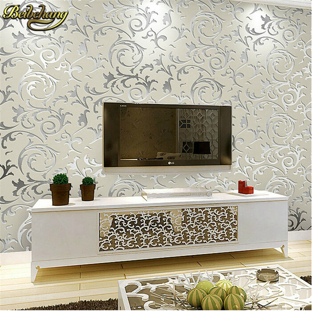 Wallpaper Living Room Wall Divider Dining Beibehang Victorian Tv Background Papel De Parede Papers Home Decor For Paper