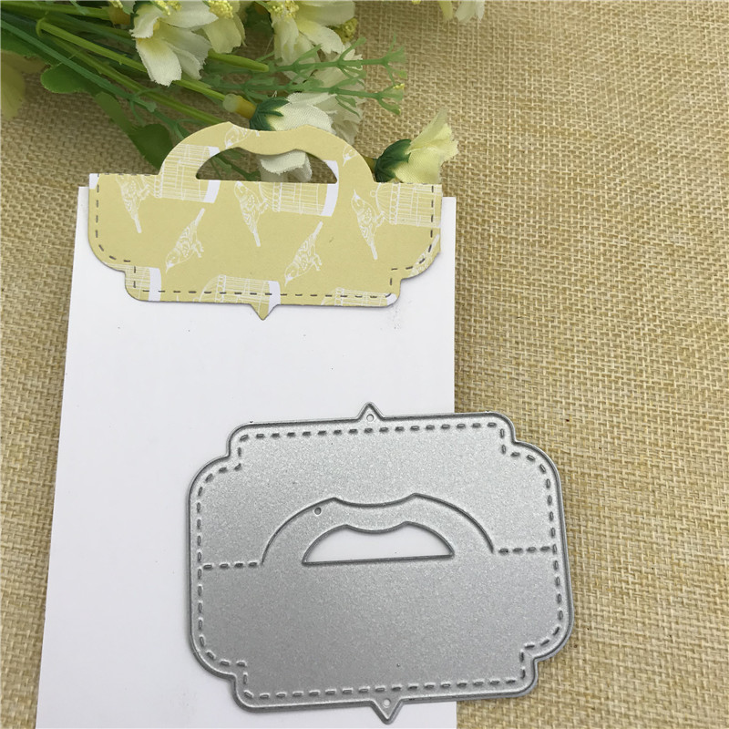 Gift Card Box Pack Bag Topper Head Handle Metal Cutting Dies For DIY Scrapbooking Album Embossing Paper Cards Decorative Crafts