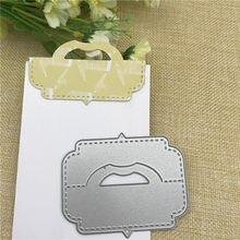 041560ee9 Paquete de tarjetas de regalo bolsa de topper mango de cabeza troqueles de  corte de Metal para Álbum de Scrapbooking DIY tarjeta.