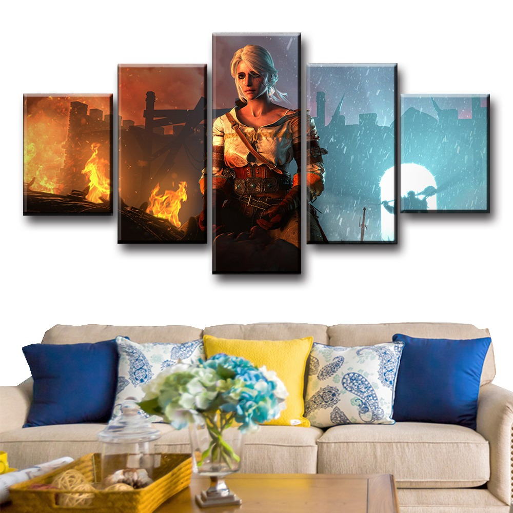 Wohnkultur Malerei & Kalligraphie Elegante Poesie Geralt The Witcher 3 Jagd Wilde Spiel Heißer Künstlerische Seide Stoff Plakat-druck 30x53 50x89 60x106 Cm Room Decor