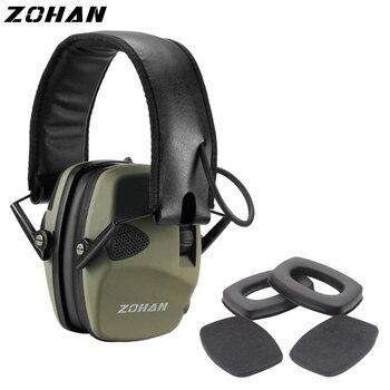 Зохан электронный противошумный наушник NRR22DB один микрофон охотничьи теплые наушники тактический съемки защиты слуха и Замена уха Кубок