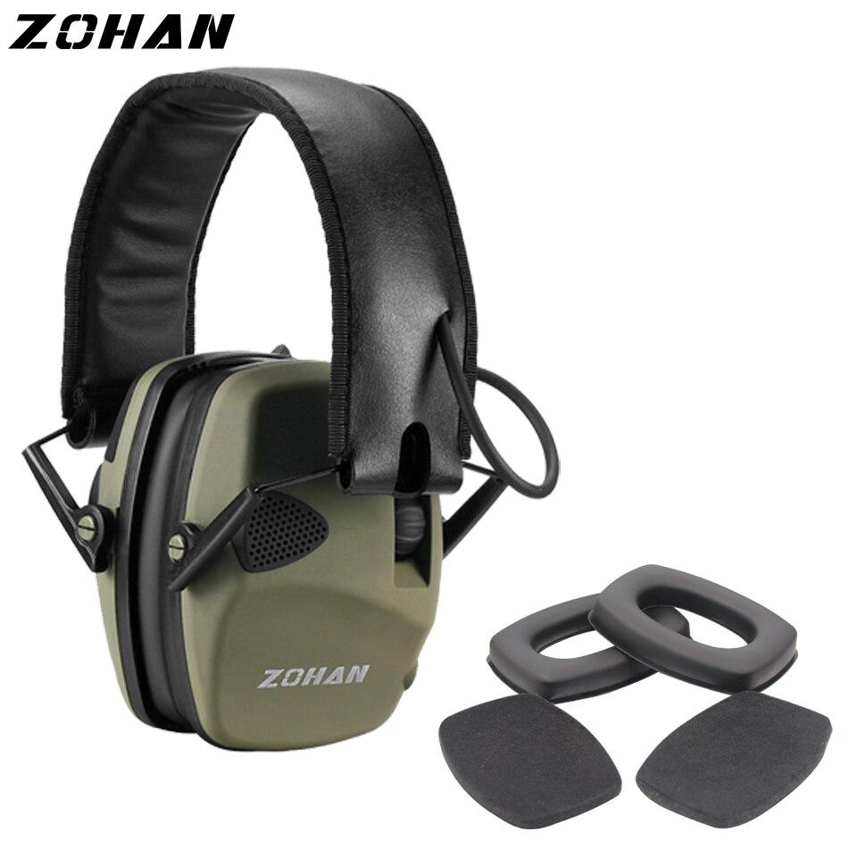ZOHAN casque antibruit électronique NRR22DB casque antibruit de chasse à Microphone unique casque antibruit tactique et Protection auditive de remplacement