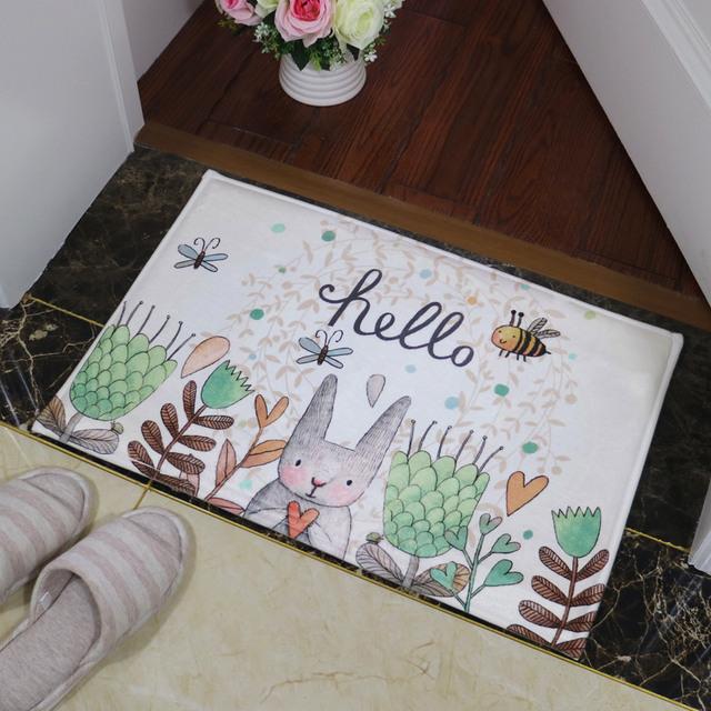 Cartoon Rabbit Bathroom Mat