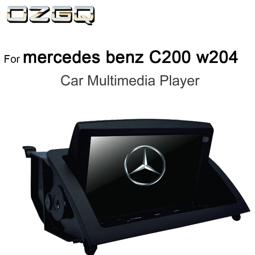 OZGQ 8 pouces Android IPS écran voiture lecteur multimédia GPS Headunit Autoradio Navigation pour 2007-2011 Mercedes benz C200 w204