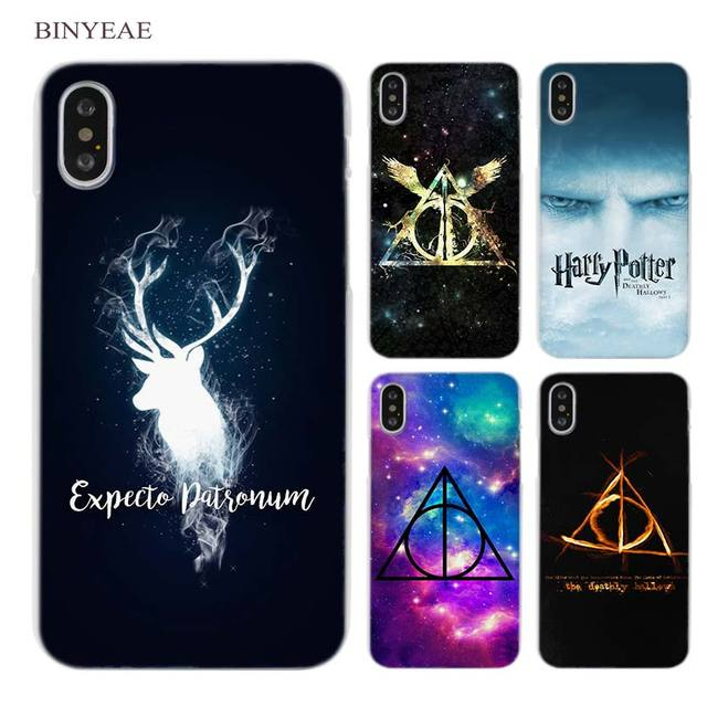 c836b27c6 BINYEAE Harry Potter Deathly Hallows Clear Cell Phone Case Cover for Apple  iPhone X 6 6s 7 8 Plus 4 4s 5 5s SE 5c