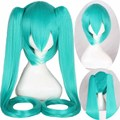 Long Straight Wigs 120cm Light Blue Anime Cosplay Wigs Vocaloid Hatsune Miku cos wigs free shipping