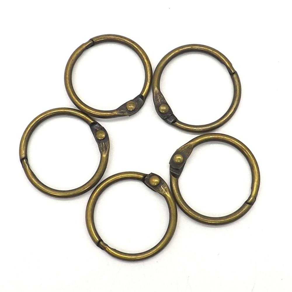 Bronze 10pcs Loose Leaf Book Ring Hoop Binder Clips for DIY Binding File Photo kitavt75417unv10200 value kit advantus id badge holder chain avt75417 and universal small binder clips unv10200