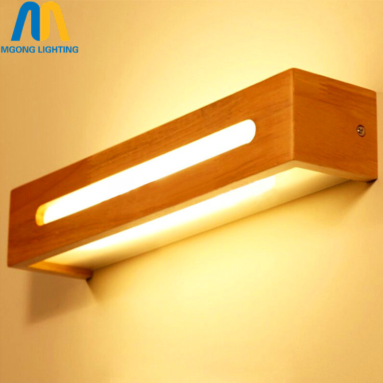 wooden vintage bathroom led wall mirror light fixtures for home bedside lamp indoor modern up down lighting