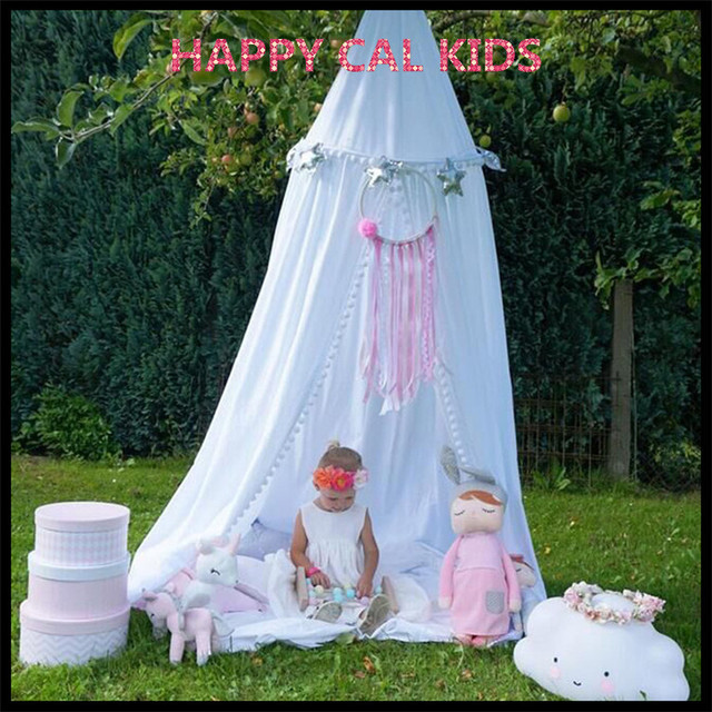 Perfekt 100% Baumwolle Kinder Spielen Zimmer Decor Tipi Prinzessin Bett Baldachin  Bettdecke Moskitonetz Zelt 3 Farben