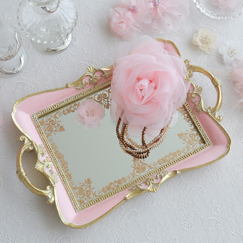 34x22cm European And American French Dressing Table Storage Tray