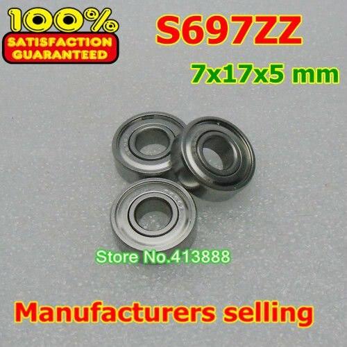 Высококачественный подшипник из нержавеющей стали SS697ZZ S697-2Z 619/7ZZ 697 S697 Z ZZ S697Z S697ZZ 7*17*5 мм высококачественный материал 440C